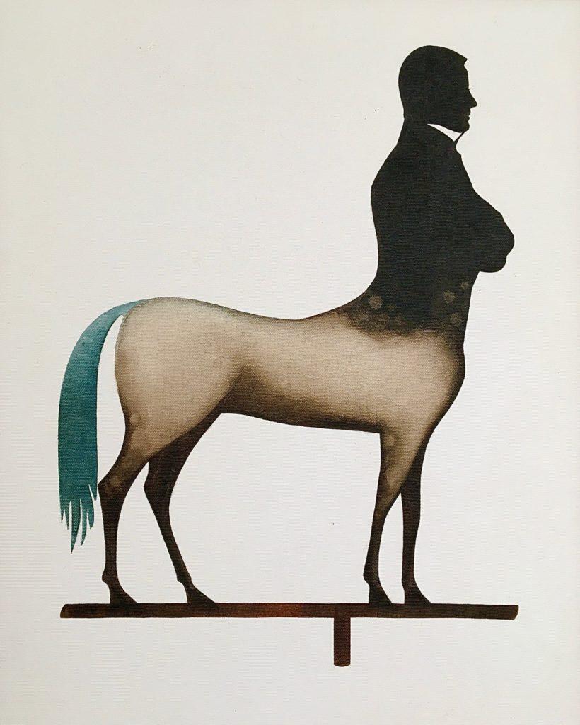 theorem painting of a centaur-like creature