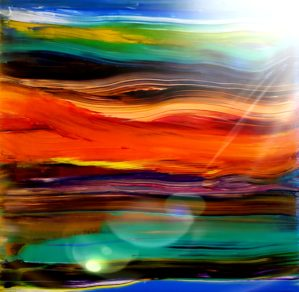 image of acrylic paint on a canvas